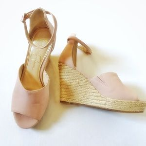 Jessica Simpson Pink Blush wedges. Sz 8